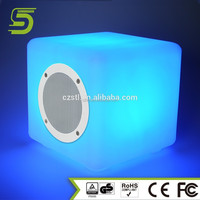 Cube PE material LED bulb bluetooth speaker portable wireless car subwoofer