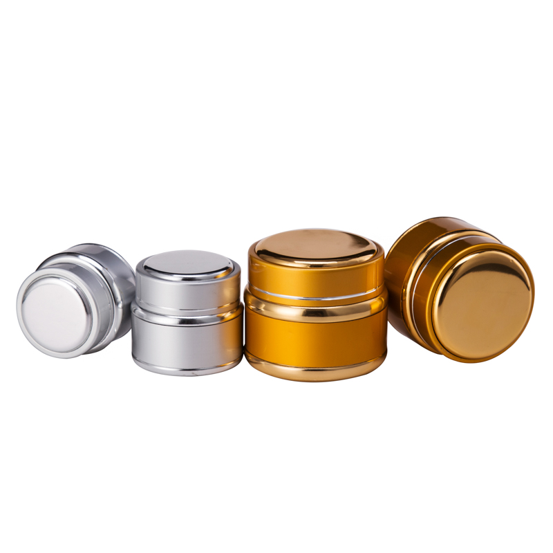 30G 50G Gold Silver Colored Cosmetic Container Cream Glass Jars