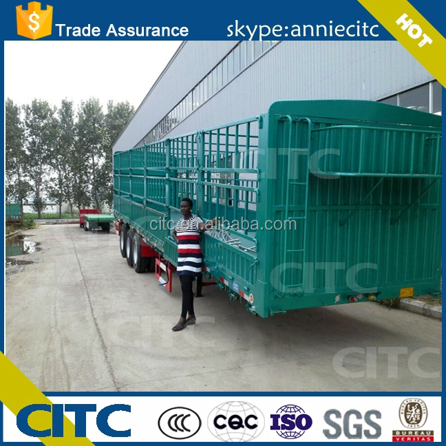 Agricultural Product transport semi trailer/shandong stake semi trailer manufacturer/hot