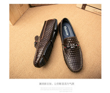 2017 fashion shoes, Chameleon personality men's shoes, breathable leather driving shoes for men