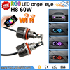 Newsun 2015 best selling products H8 60w wifi rgb led maker angel eye with wifi controller for BMW 328i,328xi,335d,335i