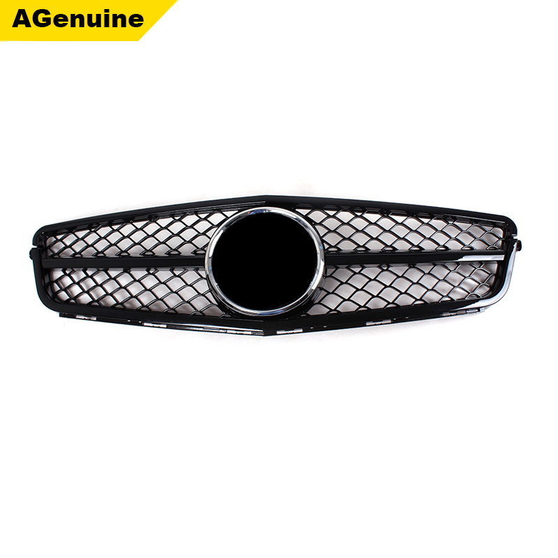 Glossy black C63 AMG type car front bumper racing grille mesh grills radiator grill for Mercedes Benz <strong>C</strong> class W204