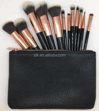 JDK high quality makeup brushes 12pcs taklon synthetic hair private label make up brushes