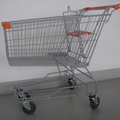 210L Aisa shopping trolley carts with silver colour for wholesale