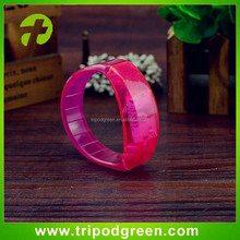 Motion Activated Silicone Flashing Light Wristbands Led Bracelets