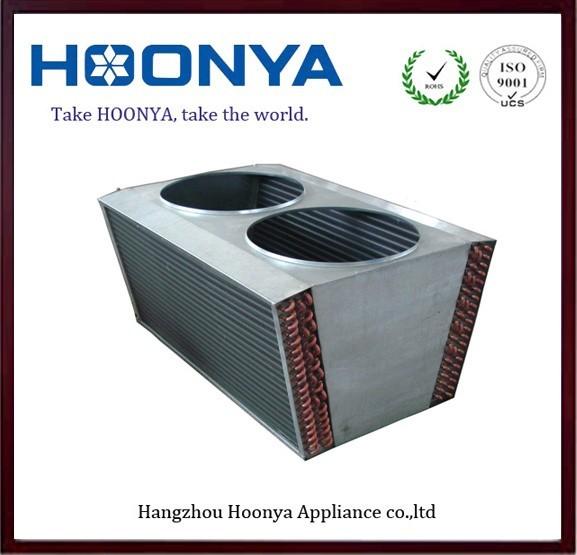 Super market aluminum fin air cooler condenser with copper tube