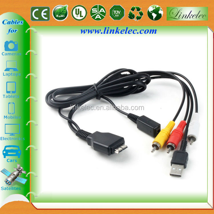 High quality male to male 1m 2m 3m 5m rca to usb cable adapter