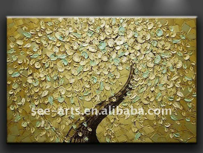 Modern Gold Textured Art Wall Decor Canvas Oil Painting