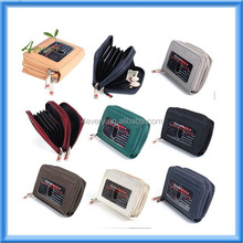 Womens Genuine Leather Mini Credit Card Case Organizer Compact Wallet