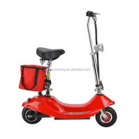 Fashionable lead-acid battery folding mini electric scooter
