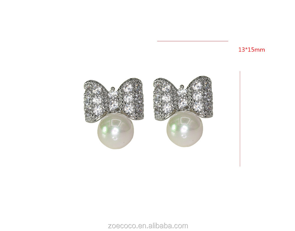 2016 latest design of pearl earrings fashion pearl jewelry