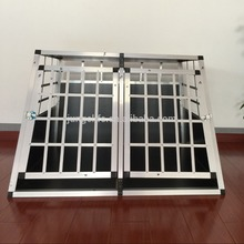 Versatile aluminum dog cage Double Door with Divider and Removable ABS Plastic Tray