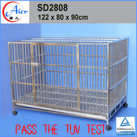 Large Stainless steel dog kennel