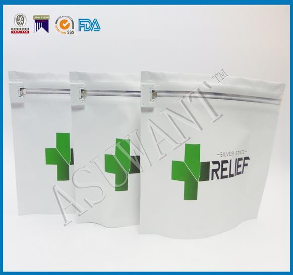 ASTM tested and certified child proof exit bag for dispensary needs