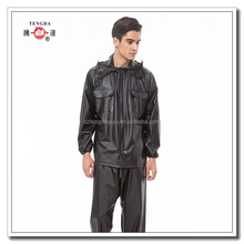 jas hujan motor europe original full rubber raincoat in black