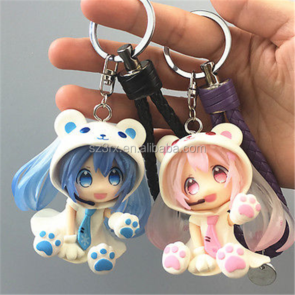 OEM keychain manufacturers in china, custom anime keychain, 3d pvc anime figure keychian keyring makers