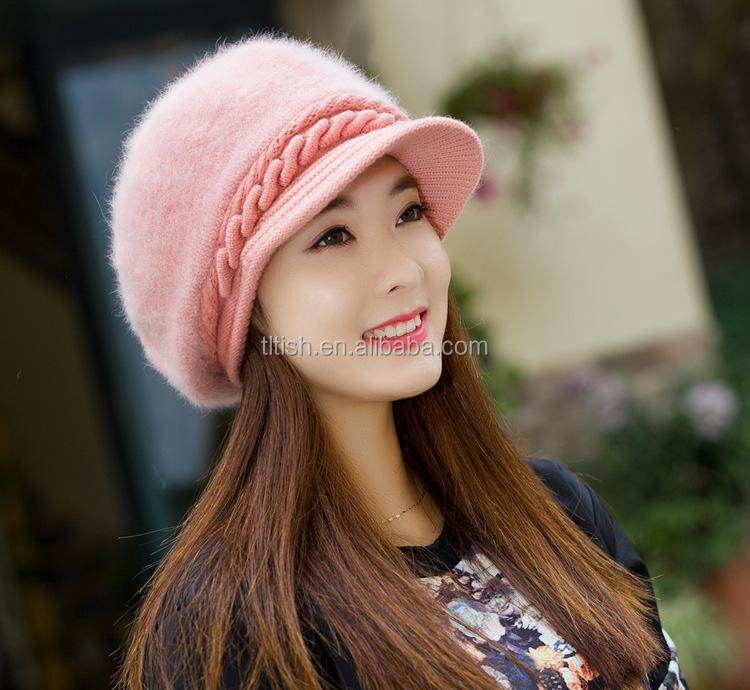 wholesale products cheap custom warm and soft beanie hat with earmuff