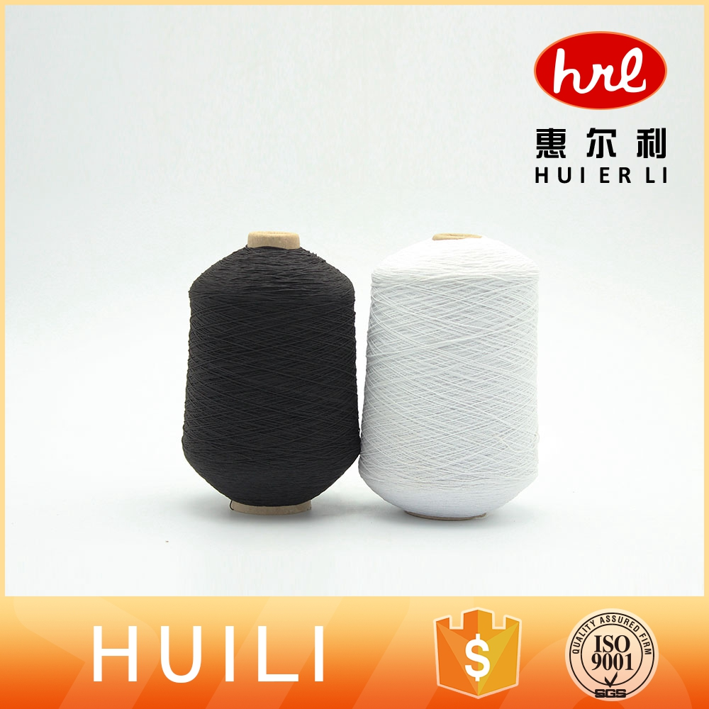 Rubber polyester covered Spandex knitting sock cheap yarn