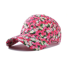 high quality flower full printed girl's sport <strong>cap</strong> baseball <strong>cap</strong>