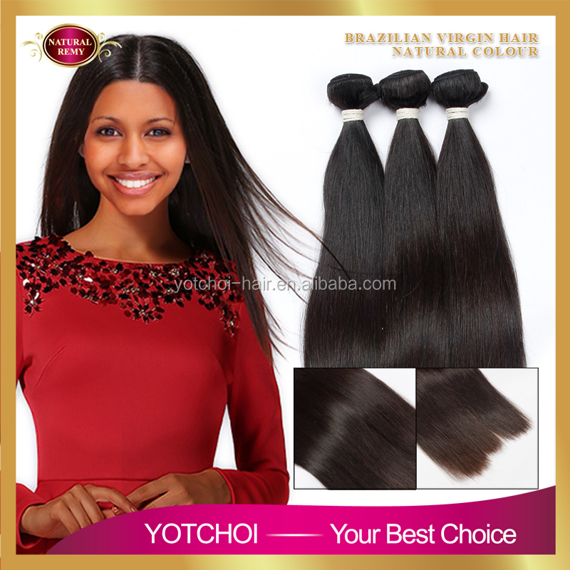 Thick Ends 100% Unprocessed Virgin Straight Black Natural Hair Extensions