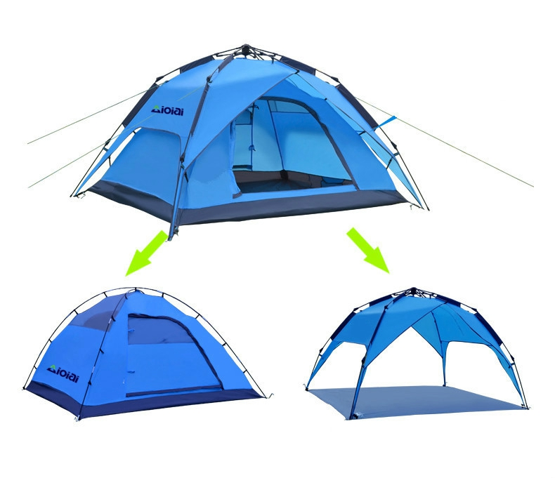 AIOIAI Free to Build Outdoor Dual-Use Automatic 3-4 People Automatic Camping Tent