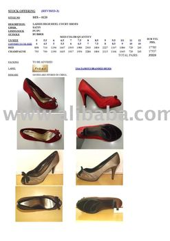STOCK SHOES-LADY'S HIGH HEEL DRESS SHOES