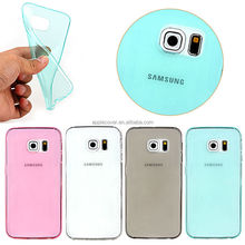 Factory Direct Selling Ultra Slim 0.3mm Soft TPU Case for Samsung S6