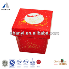 Christmas Separated Lid&Bottom Soft Paper Packaging