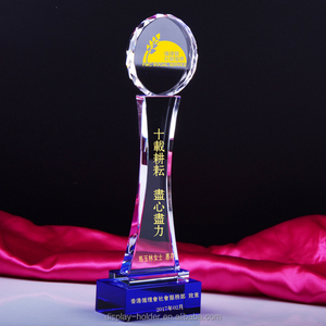 OEM crystal plaque acrylic award trophy for souvenir with engraved logo