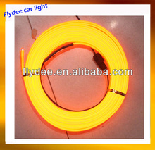 EL wire light for car inside center board/door/seat decoration, no need 3M tape to fix