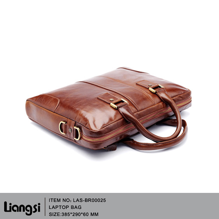 Top quality leather men's briefcase business bags