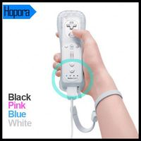Bulit-In + Motion Plus For Wii Remote Controller With Silicone Case And Wrist Strip