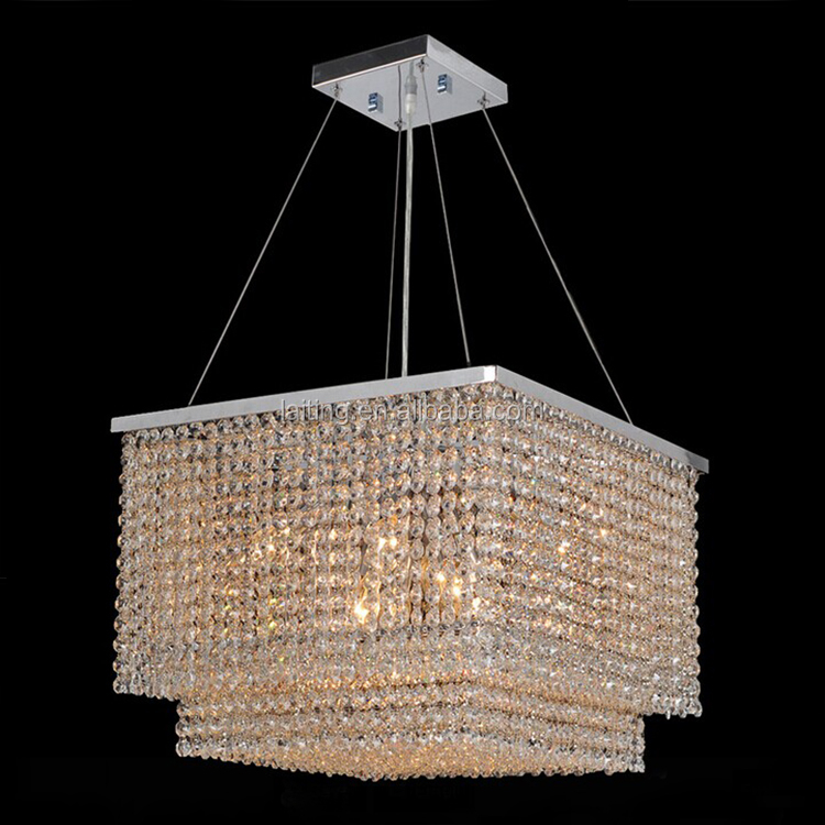 Crystal Drops for Chandeliers Square Modern Crystal Chandelier