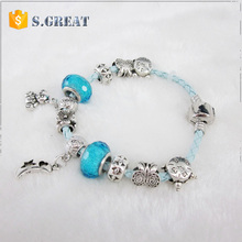 Valentine's Day Gift Wholesale imitation Europen leather bracelet charms cheap replica leather bracelet for pandora