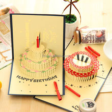 Wholesale 3d record musical greeting cards,recordable sound module for birthday card