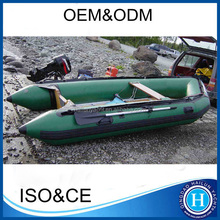 Fishing inflatable 5 persons pontoon boat made in china