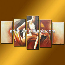 Latest designs naked lover artwork for sale on canvas for decor