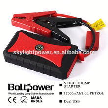 most multifunctional car emergency tool engine start button jump starter emergency use LED sos with 12000mah 4 usb