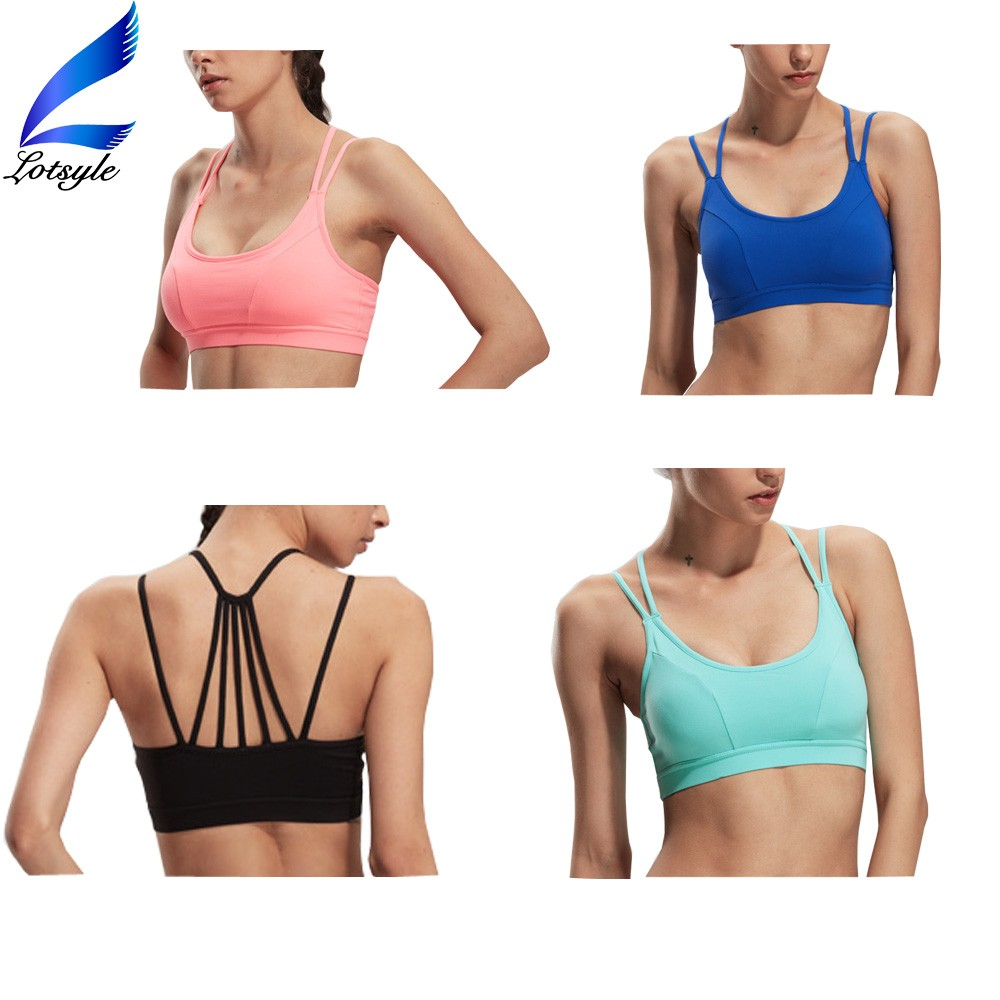 Thick Strap Sexy Sports Bra for Girls Gym Fitness Tops