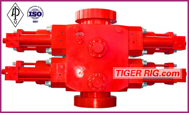 Tiger Rig Cameron type double ram blowout preventer