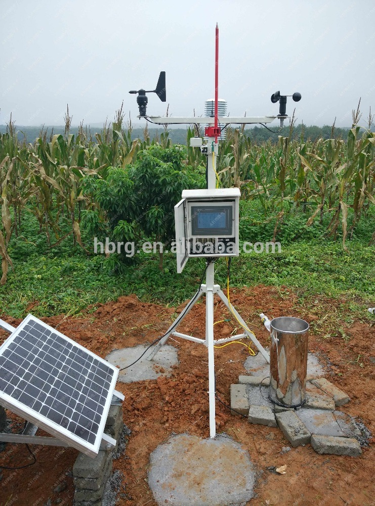 hot sale & high quality wireless weather station with rain gauge Wind direction