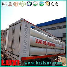 skid mounted container 25Mpa cng tube trailer gas fuel tanks , cng injector 9 cylinders