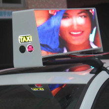 reasonable price high brightness taxi top led tv box/LED Taxi Roof Display