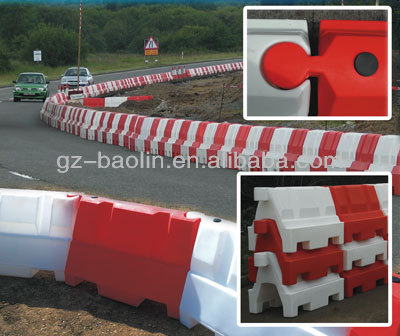 water filled plastic traffic barrier for sale