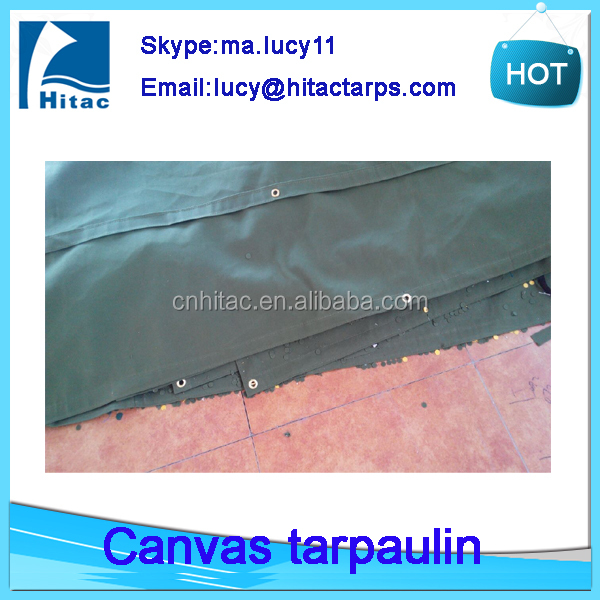 waterproof green canvas truck tarps tarpaulin with cheap price