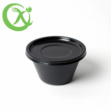 Travel catering black plastic food disposable container