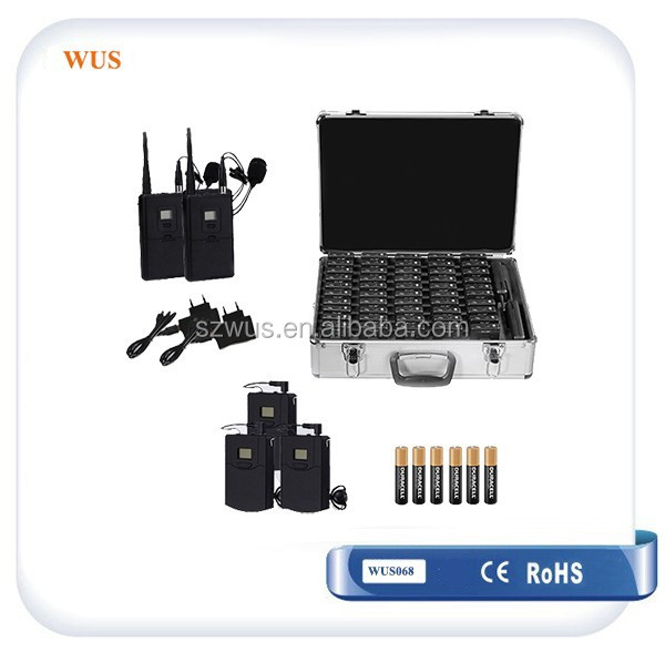 Portable PA system/Sound wireless Receiver with earphone for Listening assistance WUS068R Tourist Guide Equipment
