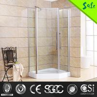 3 panel new design swing glass frame shower doors