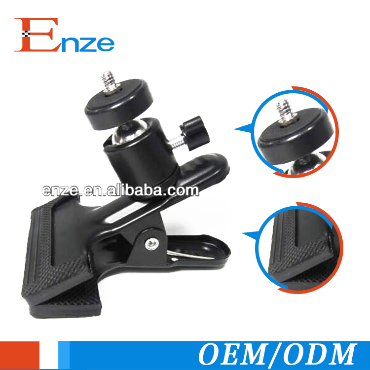 photography stand background clip metal camera clamp /4 tripod screw for photo studio camera Flash