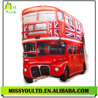 Different Shapes Stuffed Vivid Red Bus Cotton Alien Pillow Wholesale